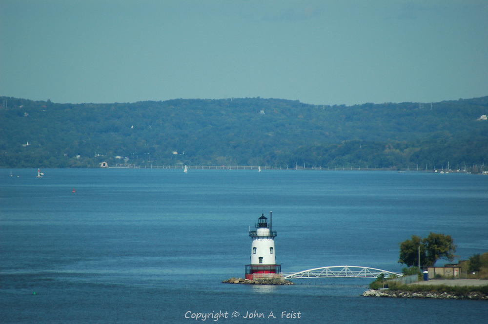 The lighthouse on the Hudson river at Tarrytown, NY