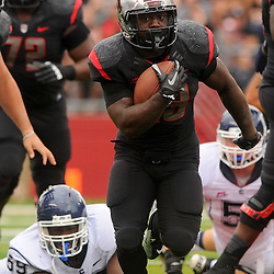 Oct 6, 2012: Rutgers Scarlet Knights running back Jawan Jamison (23) rushes the ball during second half NCAA college football action between the Rutgers Scarlet Knights and UConn Huskies at High Point Solutions Stadium in Piscataway, N.J.
