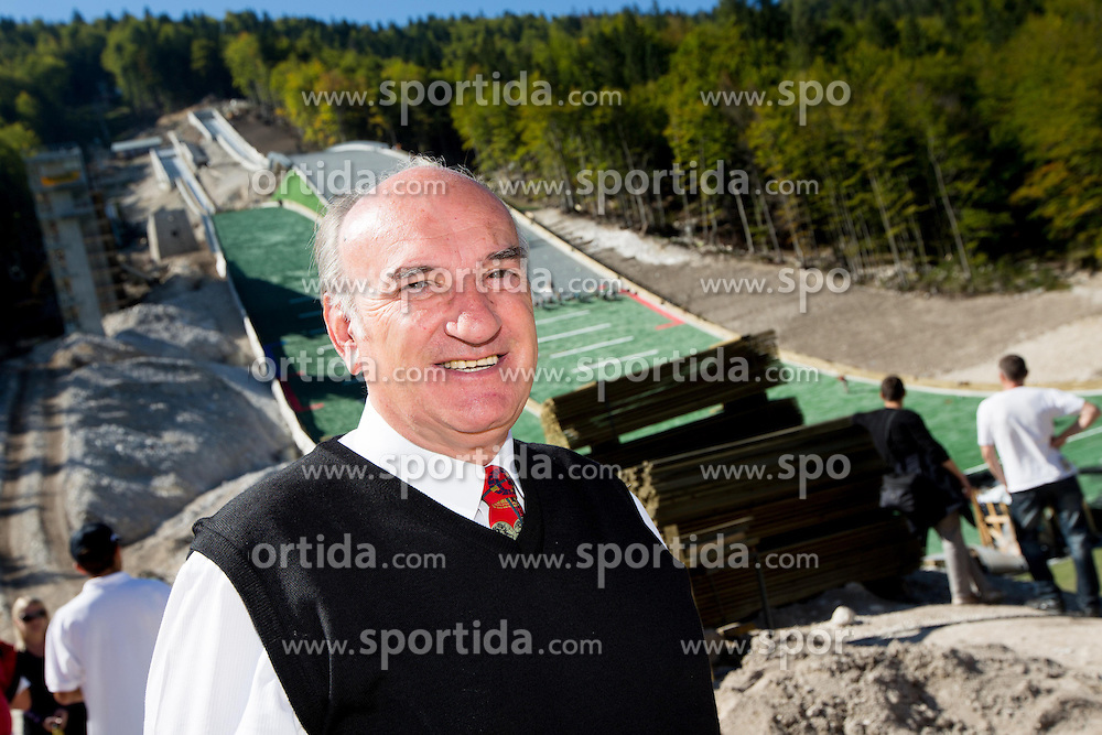 Ljubo Jasnic at media day of Slovenian Ski jumping team during construction of two new ski jumping hills HS 135 and HS 105, on September 18, 2012 in Planica, Slovenia. (Photo By Vid Ponikvar / Sportida)