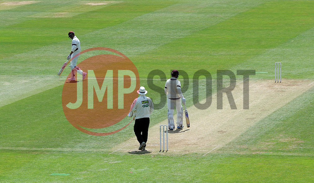 Somerset's Marcus Trescothick walks off after being dismissed. - Photo mandatory by-line: Harry Trump/JMP - Mobile: 07966 386802 - 15/06/15 - SPORT - CRICKET - LVCC County Championship - Division One - Day Two - Somerset v Nottinghamshire - The County Ground, Taunton, England.