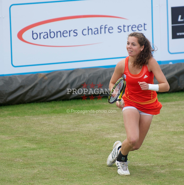LIVERPOOL, ENGLAND - Saturday, June 19, 2010: Ulrikke Eikeri (NOR) during the Ladies' Singles Final on day four of the Liverpool International Tennis Tournament at Calderstones Park. (Pic by David Rawcliffe/Propaganda)