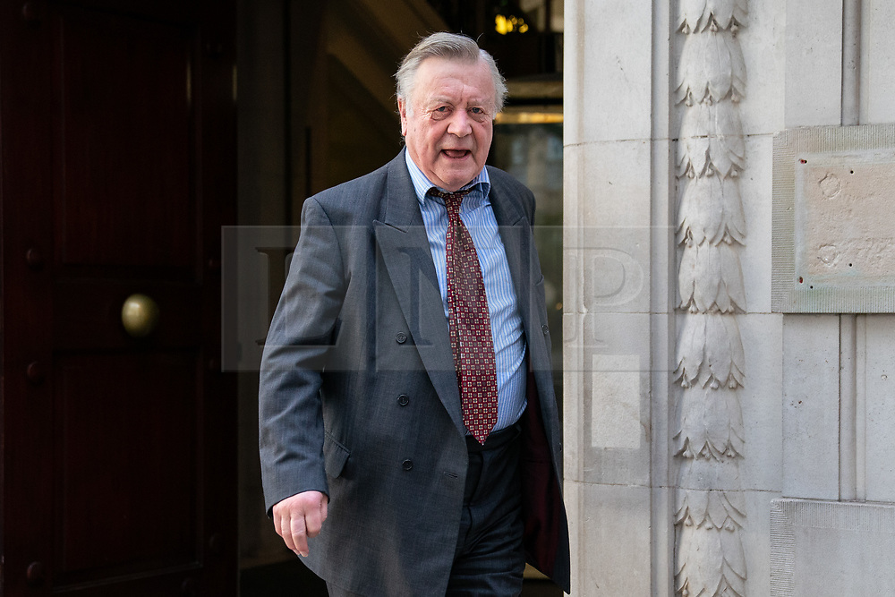 © Licensed to London News Pictures. 04/04/2019. London, UK. Kenneth Clarke MP leaving after appearing on a radio interview. MPs voted last night by a majority of one to extend article 50. The bill will be passed to the House of Lords today. Photo credit : Tom Nicholson/LNP