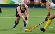 Katie Glynn during a Black Sticks Women v South Africa preliminary pool match at the Glasgow National Hockey Stadium. Glasgow Commonwealth Games 2014. Monday 28 July 2014. Scotland. Photo: Andrew Cornaga/www.Photosport.co.nz