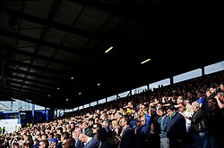 Bristol Rovers supporters look on nervously with their side losing 3-2 - Photo mandatory by-line: Rogan Thomson/JMP - 07966 386802 - 19/04/2014 - SPORT - FOOTBALL - Fratton Park, Portsmouth - Portsmouth FC v Bristol Rovers - Sky Bet Football League 2.