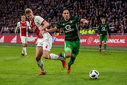 21-01-2018 NED: AFC Ajax - Feyenoord, Amsterdam<br /> Ajax was met 2-0 te sterk voor Feyenoord / Matthijs de Ligt #4 of AFC Ajax, Sofyan Amrabat #21 of Feyenoord