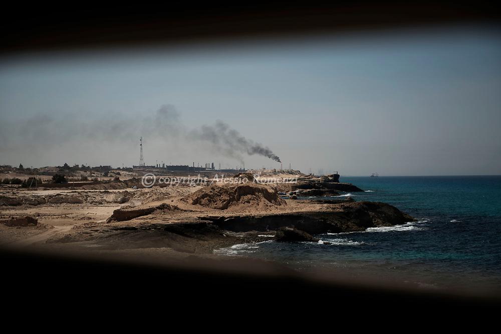 Libya, Zawyia: The refinery in Zawyia. Alessio Romenzi