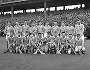 All Ireland Minor Hurling Championship - Semi Final, .Dublin v Antrim,. Dublin Team (winners),.01.08.1954, 08.01.1954, 1st August 1954, ..RESCAN..Splotch on left chest