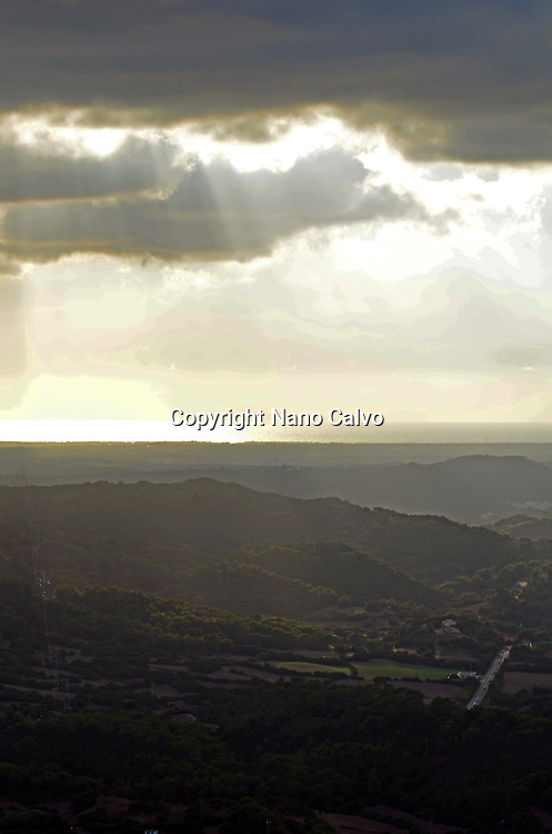 View at sunset from Mount Toro (Monte Toro), Menorca