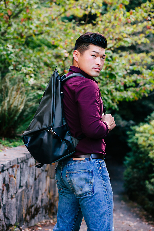 Imelda's and Louie's Shoes for Men - 2017 Fall lookbook at Crystal Springs Rhododendron Garden. Photo by Jason Quigley