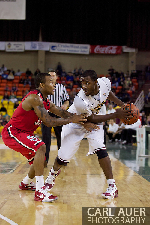 November 27th, 2010:  Anchorage, Alaska - Sun Devil senior guard Ty Abbott (3) looks inside past the St. John's defense in Arizona State's 58-67 loss to St. John's in the championship game of the Great Alaska Shootout.