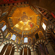 Started in 786 by Charlemagne, the Aachen cathedral remains an awesome sight to behold. The roof of the chapel have countless tiles to form grand mosaics depicting biblical scenes - a fusion of religious art and architectural mastery in the middle ages.
