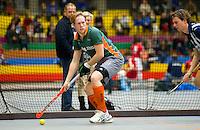 ARNHEM - Friso van Bloois van Were Di., De mannen van Were Di uit Tilburg tijdens de eerste dag van de zaalhockey competitie in de hoofdklasse, seizoen 2013/2014. FOTO KOEN SUYK