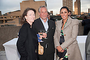 SALLY ANNE LASSON; SIMON KELNER; SERENA REES,  Opening of Love is what you want. Exhibition of work by Tracey Emin. Hayward Gallery. Southbank Centre. London. 16 May 2011. <br /> <br />  , -DO NOT ARCHIVE-© Copyright Photograph by Dafydd Jones. 248 Clapham Rd. London SW9 0PZ. Tel 0207 820 0771. www.dafjones.com.