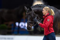 Jessica VON BREDOW-WERNDL (GER) & Unee BB - Horse Inspection - FEI World Cup™ Dressage Final - Longines FEI World Cup Finals Paris - Accor Hotels Arena, Bercy, Paris, France - 12 April 2018