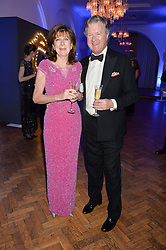 The EARL & COUNTESS OF BALFOUR at the Sugarplum Dinner in aid Sugarplum Children a charity supporting children with type 1 diabetes and raising funds for JDRF, the world's leading type 1 diabetes research charity held at One Marylebone, London on 18th November 2015.