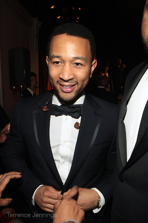New York, NY-April 18: Recording Artist John Legend attends Rev. Al Sharpton's National Action Network's Keeper of the Dream Awards held at Cipriani's Wall Street on April 18, 2012 in New York City. (Photo by Terrence Jennings)