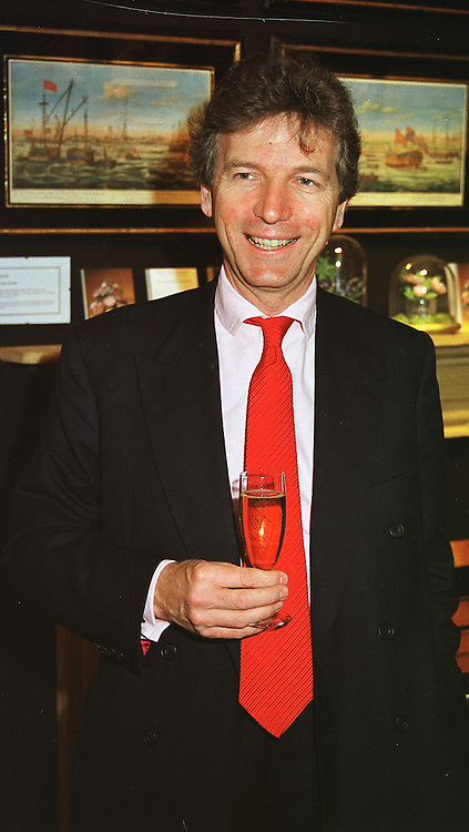 MR CLIVE ASLET editor of Country Life magazine, at a party in London on 5th May 1999.MRS 1