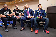 DALLAS, TX - MARCH 14:  Rafael Dos Anjos relaxes before his fight against UFC lightweight champion Anthony Pettis during UFC 185 at the American Airlines Center on March 14, 2015 in Dallas, Texas. (Photo by Cooper Neill/Zuffa LLC/Zuffa LLC via Getty Images) *** Local Caption *** Rafael Dos Anjos