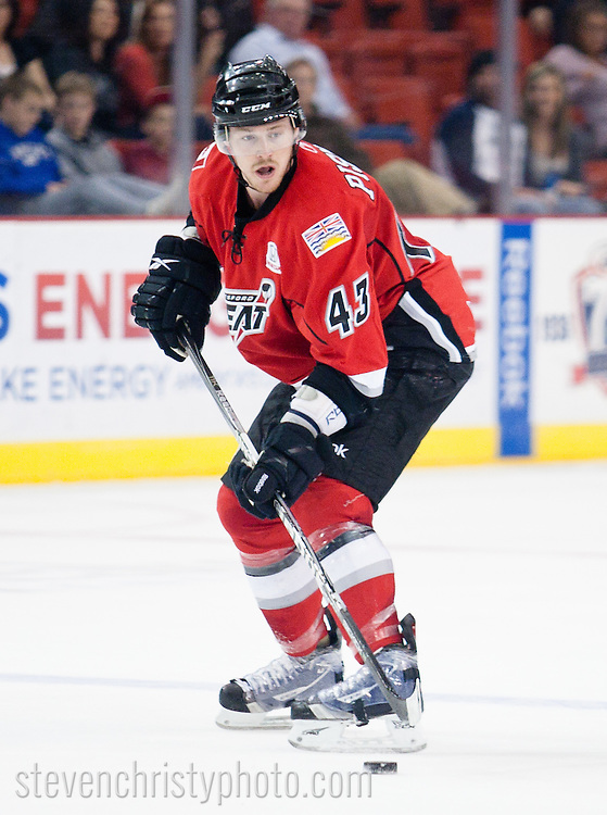 March 4, 2011: The Oklahoma City Barons play the Abbotsford Heat in an American Hockey League game at the Cox Convention Center in Oklahoma City.