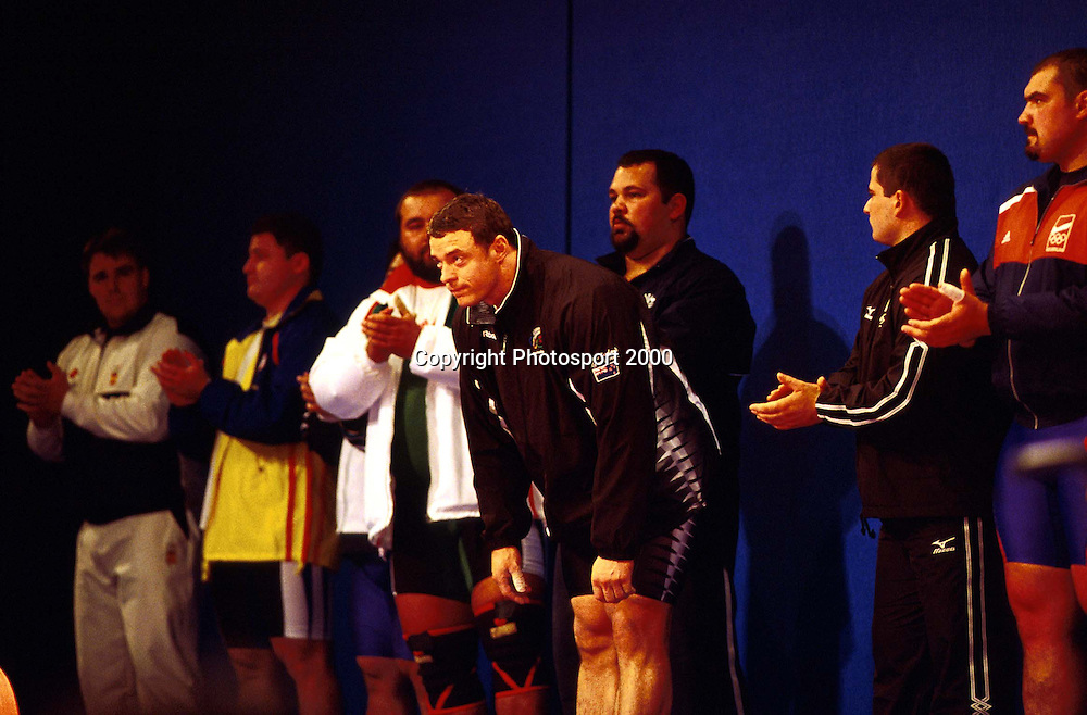 Nigel Avery. Weightlifting. 2000 Sydney Olympics. Sydney, Australia. September 2000. Photo: Andrew Cornaga/PHOTOSPORT