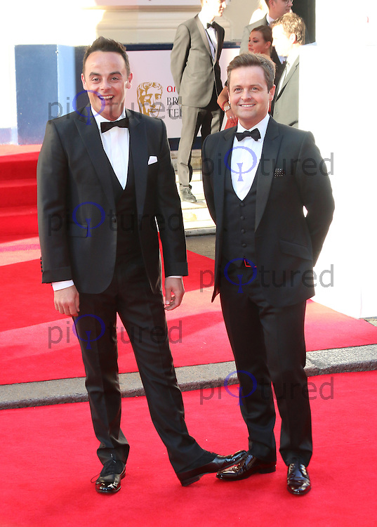 Anthony McPartlin; Declan Donnelly, Arqiva British Academy Television Awards - BAFTA, Theatre Royal Drury Lane, London UK, 18 May 2014, Photo by Richard Goldschmidt