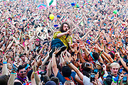 MANCHESTER, TN - JUNE 09: Kevin Saurer of Hippie Sabotage performs during the 2018 Bonnaroo Music & Arts Festival on June 9, 2018 in Manchester, Tennessee.