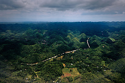 Aerial view of Chocolate Hills, Bohol, Central Visayas, Philippines, Southeast Asia