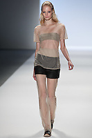 Melissa Tammerijn walks the runway wearing Richard Chai Spring 2011 Collection during Mercedes Benz Fashion Week in New York on September 9, 2010