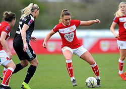 Ella Rutherford of Bristol City tries to get past Rakel Honnudottir of Reading Women- Mandatory by-line: Nizaam Jones/JMP- 31/03/2019 - FOOTBALL - Stoke Gifford Stadium - Bristol, England - Bristol City Women v Reading Women - FA Women's Super League 1