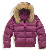 free country pink parka with fur lined hood