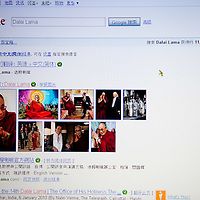 London January 13 Google the US search giant has stopped censoring its Chinese search site and announced that it may withdraw from the country if challanged by the government. .Today for the first time searche like Dalai Lama and Tiananmen returned listing results and images...***Agreed Fee's Apply To All Image Use***.Marco Secchi /Xianpix. tel +44 (0) 771 7298571. e-mail ms@msecchi.com .www.marcosecchi.com