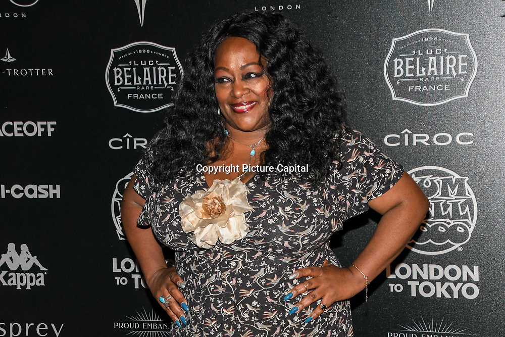 Kym Mazelle attend the Official launch party for the annual Gumball 3000 Rally took place at Proud Embankment on August 4 2018, London, UK.