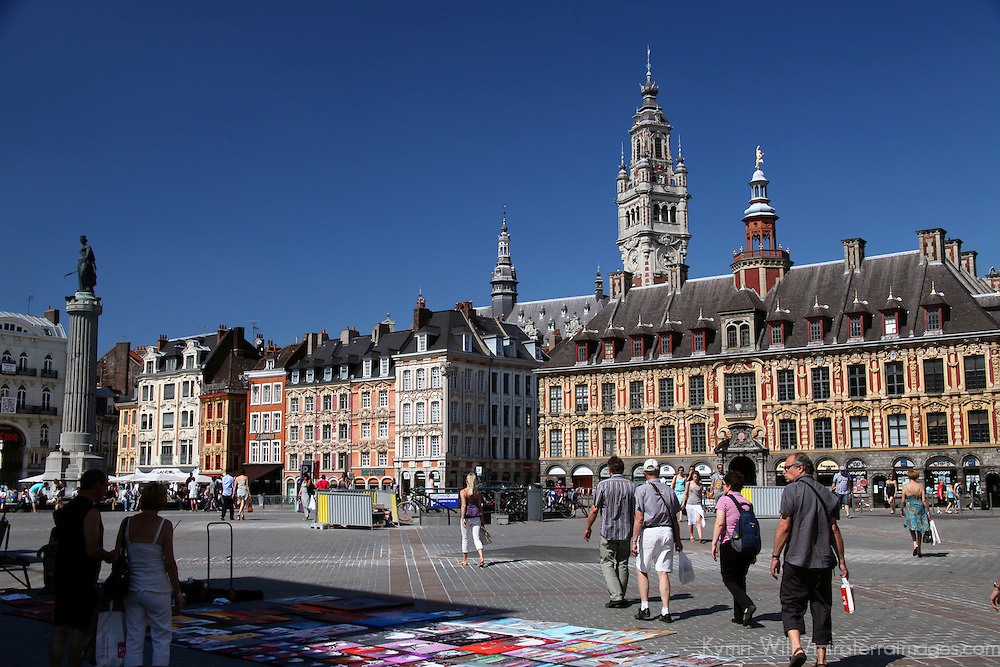 Europe, France, Lille. The Grand Place of Lille.