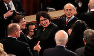 Supreme Court justices at the Joint Session of Congress February 28, 2017<br /> Elena Kagan, Associate Justice,Sonia Sotomayor, Associate Justice,Stephen G. Breyer, Associate Justice,<br /> <br /> Photo by Dennis Brack