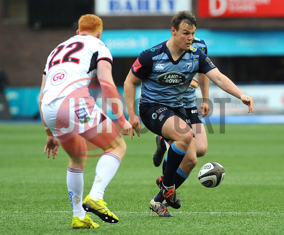 Jarrod Evans of Cardiff Blues kicks the ball - Mandatory by-line: Nizaam Jones/JMP- 24/03/2018 - RUGBY - BT Sport Cardiff Arms Park- Cardiff, Wales - Cardiff Blues v Ulster Rugby - Guinness Pro 14