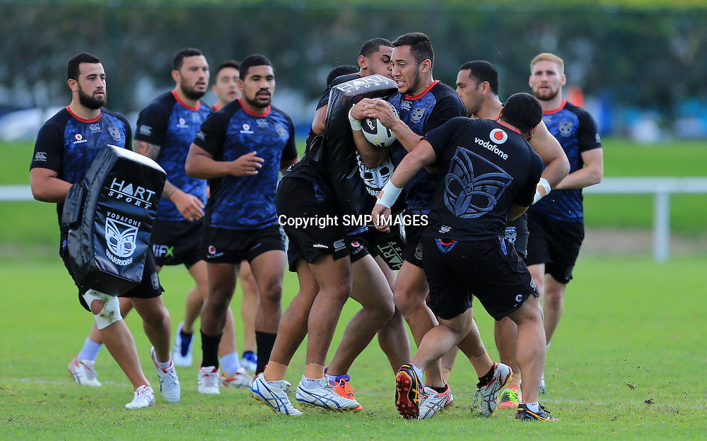 NEW ZEALAND WARRIORS - PHOTO: SMP IMAGES.com / QRL MEDIA - 23rd May 2014, Action from the NEW ZEALAND WARRIORS open training session at the Burleigh Bears at Pizzy Park. This image is for Editorial use only, any further use must be cleared in writing by the Manager Sports Media Publishing (www.smpimages.com). No third parties sales what so ever.
