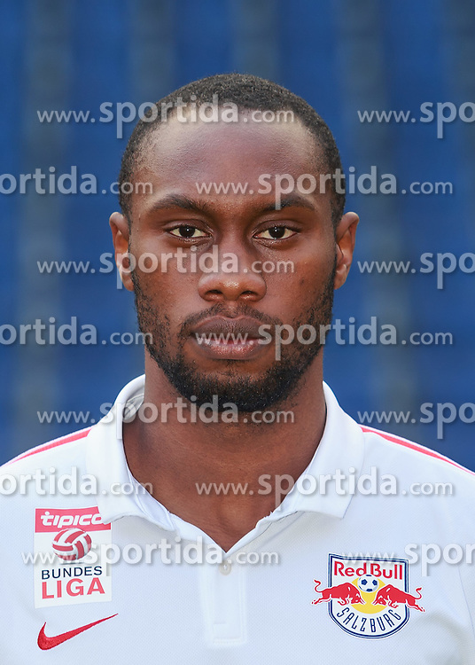 15.07.2015, Red Bull Arena, Salzburg, AUT, 1. FBL, FC Red Bull Salzburg, Fototermin, im Bild Reinhold Yabo (FC Red Bull Salzburg) // during the official Team and Portrait Photoshoot of Austrian Bundesliga Club FC Red Bull Salzburg at the Red Bull Arena in Salzburg, Austria on 2015/07/15. EXPA Pictures © 2015, PhotoCredit: EXPA/ JFK