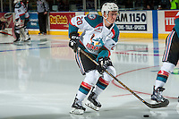 KELOWNA, CANADA - JANUARY 7: Conner Bruggen-Cate #20 of the Kelowna Rockets warms up against the Kamloops Blazers on January 7, 2017 at Prospera Place in Kelowna, British Columbia, Canada.  (Photo by Marissa Baecker/Shoot the Breeze)  *** Local Caption ***