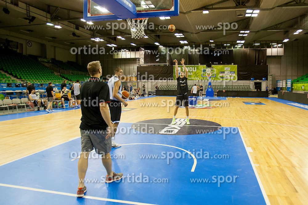 during practice session of German team before Eurobasket 2013 on September 2st, 2013 in Tivoli Hall, Ljubljana, Slovenia. (Photo By Urban Urbanc / Sportida.com)