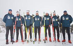 Slovenian Men Biathlon Team at Dachstein glacier before new season 2008/2009, Austria, on October 30, 2008.  (Photo by Vid Ponikvar / Sportida)