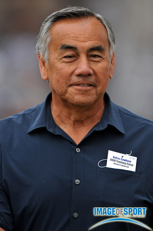 Jul 28, 2008; Oxnard, CA, USA;  UCLA offensive coordinator Norm Chow at Dallas Cowboys training camp at River Ridge Field at Residence Inn by Marriott. Mandatory Credit: Kirby Lee/Image of Sport-US PRESSWIRE