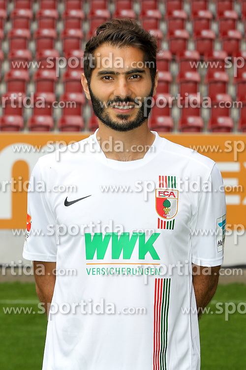 08.07.2015, WWK Arena, Augsburg, GER, 1. FBL, FC Augsburg, Fototermin, im Bild Halil Altintop #7 (FC Augsburg) // during the official Team and Portrait Photoshoot of German Bundesliga Club FC Augsburg at the WWK Arena in Augsburg, Germany on 2015/07/08. EXPA Pictures &copy; 2015, PhotoCredit: EXPA/ Eibner-Pressefoto/ Kolbert<br /> <br /> *****ATTENTION - OUT of GER*****