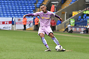 Reading Midfielder,  Jordan Obita  crosses the ball during the Sky Bet Championship match between Bolton Wanderers and Reading at the Macron Stadium, Bolton, England on 2 April 2016. Photo by Mark Pollitt.