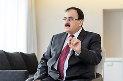 Brigadier General Salim Idriss, Chief of Staff of the Free Syrian Army, speaks during an interview, in Brussels, Belgium on Monday, March 6, 2013. Idriss was a general in the Syrian Army when he defected in July 2012. (Photo © Jock Fistick)
