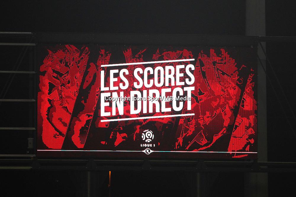 panneau affichage &quot;les scores en direct&quot; des autres matchs du championnat - 03.12.2014 - Metz / Bordeaux - 16eme journee de Ligue 1 -<br />Photo : Fred Marvaux / Icon Sport