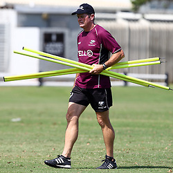 DURBAN, SOUTH AFRICA, Friday 15, January 2016 - Sean Everitt (Assistant Coach) of the Cell C Sharks during The Cell C Sharks Pre Season training Friday 145h January 2016,for the 2016 Super Rugby Season at Growthpoint Kings Park in Durban, South Africa. (Photo by Steve Haag)<br /> images for social media must have consent from Steve Haag