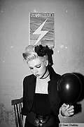 Mika Doll with Black Balloon at the Junk Club, Southend, 2006.