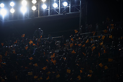 February 28, 2019 - Valencia, Valencia, Spain - Supporters of Valencia during the Copa del Rey Semi Final match second leg between Valencia CF and Real Betis Balompie at Mestalla Stadium in Valencia, Spain on February 28, 2019. (Credit Image: © Jose Breton/NurPhoto via ZUMA Press)