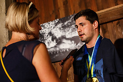 Darko Duric during reception of Slovenian paralympic swimmer Darko Duric after getting gold and bronze medal at swimming European Championship, Podbrezje, 22th of August, Slovenia Photo by Grega Valancic / Sportida
