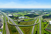 Nederland, Noord-Brabant, Breda, 23-08-2016; Knooppunt Princeville, verkeersknooppunt voor de aansluiting van de autosnelwegen A16 en A58. Half sterknooppunt.<br />